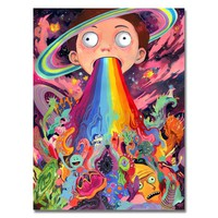 POPIGIST-2017 Hot Rick And Morty Art Silk Poster Or Canvas Poster 24x32 13x18inch Cartoon Picture For Living Room Decor-003