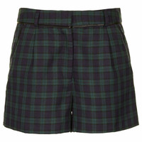 Green Blackwatch Check Shorts
