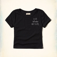 Message Graphic Baby Tee