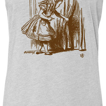 Alice in Wonderland - Looking for The Door (Brown) Tri-Blend Racerback Tank-Top