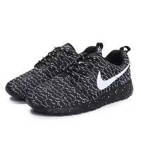 """NIKE"" Women's Walking Shock Absorbing Knitting Coalblack Fashion Sports Shoes"