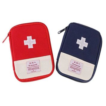 Outdoor Portable Medicine First Aid Pack With Zipper Emergency Medical Survival Kit Bag Wrap Gear Bag Hiking Hunting