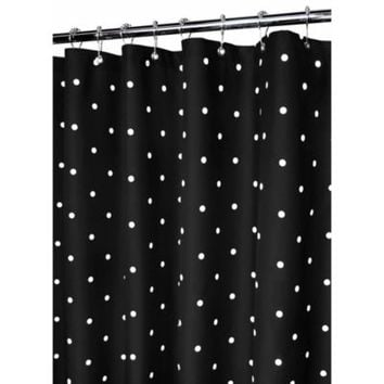 Park B. Smith® Black Classic Polka Dot 72-Inch x 72-Inch Watershed® Shower Curtain