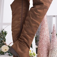 Status Update Knee High Boots (Cognac)