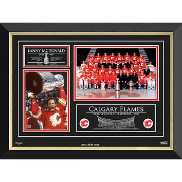 LANNY MCDONALD & THE CALGARY FLAMES STANLEY CUP CHAMPS, LIMITED EDITION 89 OF 89