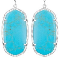 Danielle Silver Earrings in Turquoise - Kendra Scott Jewelry