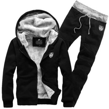 Fashion New Winter Warm Hoodies Sweatshirts With Pants(Sports Suit Jacket Coat With Trousers) [9221280196]