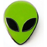 Alien Head Glow-in-the-Dark Lapel Pin