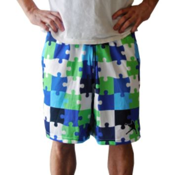 Lax Unlimited PUZZLE 2 Lacrosse Shorts | Lacrosse Unlimited
