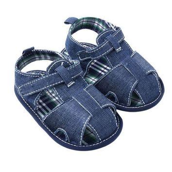 ESBONJ Newest New Blue Jean Baby Shoes Summer Toddler First Walkers Shoes