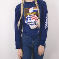 Vintage Bands With America Long Sleeve T Shirt