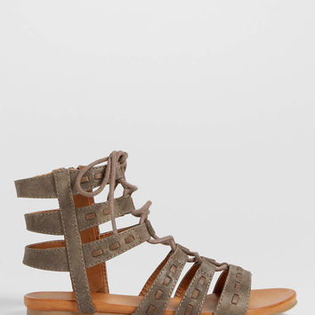 Elle lace up faux leather gladiator sandal | maurices
