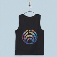 Men's Basic Tank Top - Bassnectar Logo on Galaxy