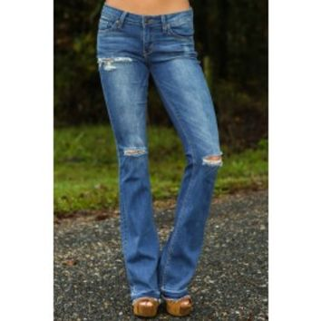 Where You Need To Be Bell Bottom Jeans