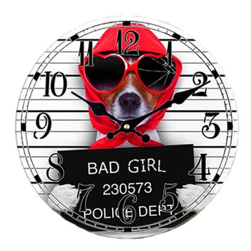 Bad Girls Silent Round Wall Clocks