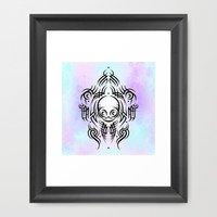 Alien Tribal Tattoo Framed Art Print by Chobopop