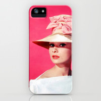 Audrey Hepburn Pink Version - for iphone iPhone & iPod Case by Simone Morana Cyla