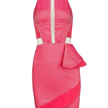 Posh Girl Pink Side Peplum Dress
