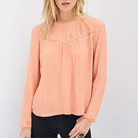 Pintuck-Paneled Blouse