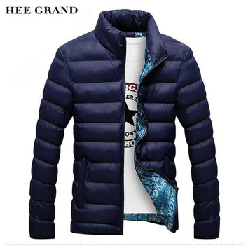 Casual Solid Color Puffy Coat Slim