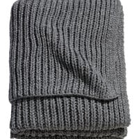 Rib-knit Throw - from H&M