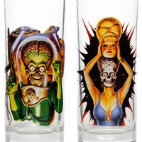 KREEPSVILLE 666 MARS ATTACKS GLASS SET