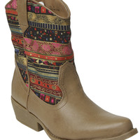 Multi Print Cowboy Boot | Shop Shoes at Wet Seal