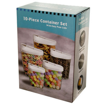 Nesting Food Container Set with Easy Pour Lids ( Case of 1 )