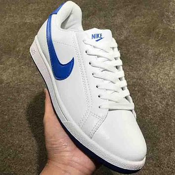 NIKE 2018 new men and women couple models low top casual shoes F-AA-SDDSL-KHZHXMKH white/blue