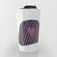 Pink and Purple Snail Travel Mug by Erin Brie Art