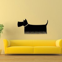 Wall Decal Vinyl Sticker Dog Animal Pet Grooming Salon Decor Sb496