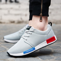 nmd basket femme Men's Casual Shoes 2016 New Spring Men Shoes For Mens Trainers PU Summer Zapatos Man Flats Shoes Tenis