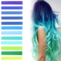 SEAFOAM MERMAID | Ocean Blue, Turquoise, Mint and Green Pastel Ombre Hair Chalk temporary hair color set of 12