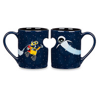 disney parks wall-e and eve ceramic coffee mug set new with box