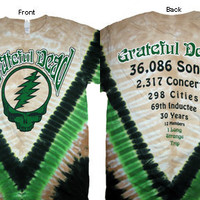 Grateful Dead 30000 Songs Tie Dye Short Sleeve Shirt Sizes Med thru 2XL SYF