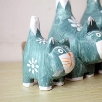 Nordic Wood Cats Decoration Wooden Gifts Home Decor [6282385670]