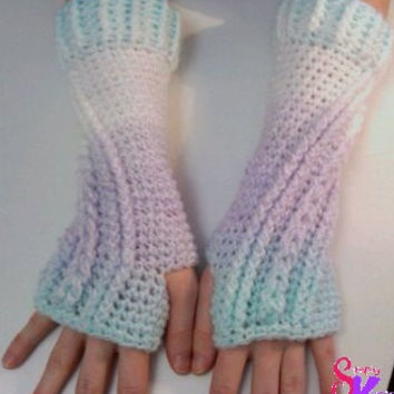 Digital Pattern: Kelly Arm Warmers, Crochet Pattern, Fingerless Gloves, Texting Gloves, Texting Mittens, Arm Warmers, Crochet Wristers