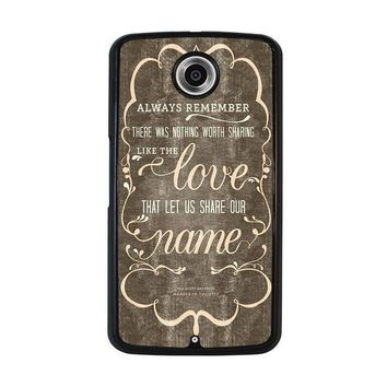 the avett brothers quotes nexus 6 case cover  number 1