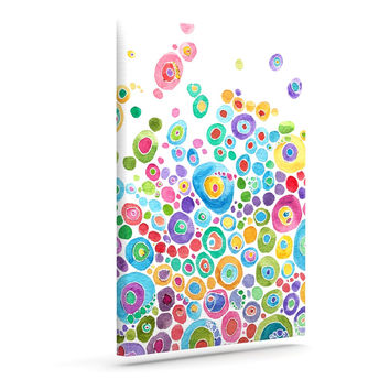 """Catherine Holcombe """"Inner Circle White"""" Outdoor Canvas Wall Art"""