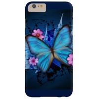 Blue Butterfly Barely There iPhone 6 Plus Case