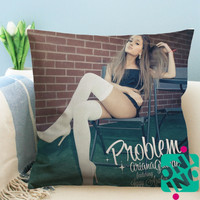 Ariana Grande ft Iggy Azalea Zippered Pillow Case, Cushion Case, Pillow case