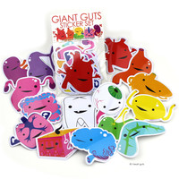 *NEW* - Giant Guts Sticker Set - 15 Organs and Friends
