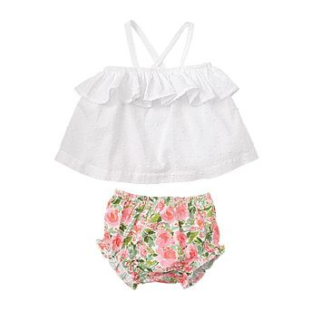 MUD PIE FLORAL PINAFORE SET
