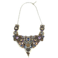 Beige & Purple Dopodomani Necklace