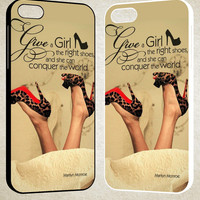 girl shoes marlyn monroe quotes F0177 iPhone 4S 5S 5C 6 6Plus, iPod 4 5, LG G2 G3, Sony Z2 Case