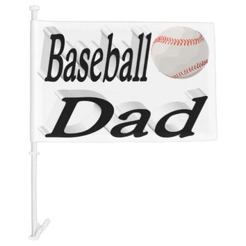 Baseball Dad 3D Car Flag