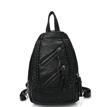 University College Backpack Rdywbu Washed leather shoulder bag   Wind tide fashion woven bag with three diagonal chest factory outlets B233AT_63_4