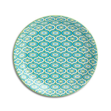 Lantern Plates, Blue, Set of 6, Serving Plates & Platters