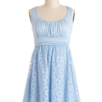 Sleeveless A-line Artisan Iced Tea Dress in Sky