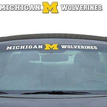 Michigan Wolverines NCAA Licensed Auto Car Truck Windshield Decal
